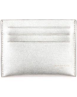 Metallic Leather Card Case