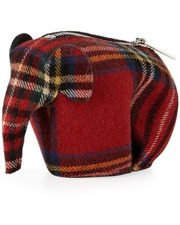 Plaid Elephant Bag Charm/coin Purse
