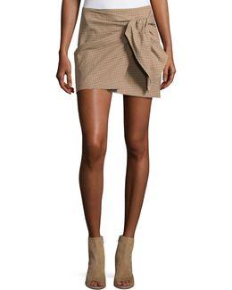 Ninon Plaid Mini Skirt
