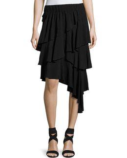 Weez Asymmetric Layered Skirt