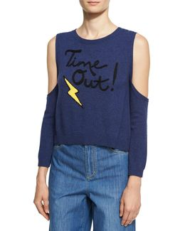 Wade Time Out Cold-shoulder Sweater