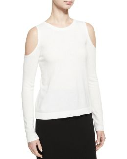 Wade Cold-shoulder Pullover Sweater