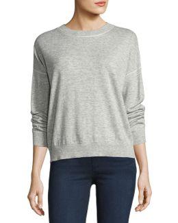 Criselle Drop-shoulder Crewneck Sweater