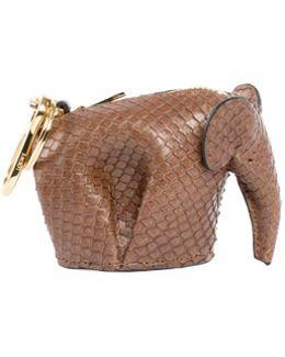 Snakeskin Elephant Bag Charm/keychain