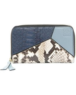 Puzzle Leather & Snakeskin Wallet