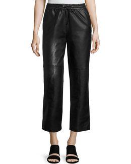 Amari Drawstring Leather Pants