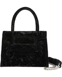 Velvet Top-handle Bag