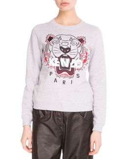 Light Brushed Cotton Tiger Sweatshirt