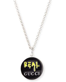 "Ghost Men's Sterling Silver ""real"" Necklace"