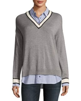 Belva V-neck Pullover Sweater