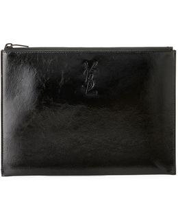 Monogram Patent Leather Zip Pouch