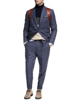 Donegal Wool-silk Two-piece Suit