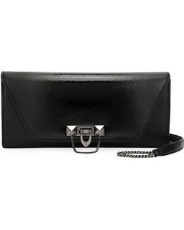 Demilune Clutch Bag With Strap