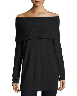 Sibel Fold-over Tunic Sweater