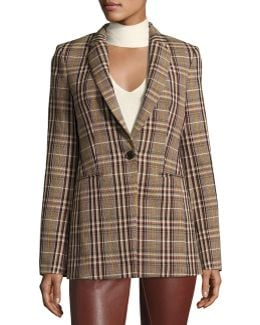 Power Bexley Plaid Wool Blazer Jacket