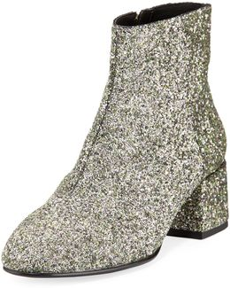 Dragon Glitter Zip-up Bootie