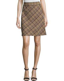 High-waist Bexley Plaid Mini Skirt