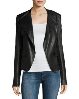 Peplum Jacket Leather Jacket