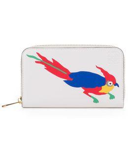 Medium Zip-around Parrot Wallet