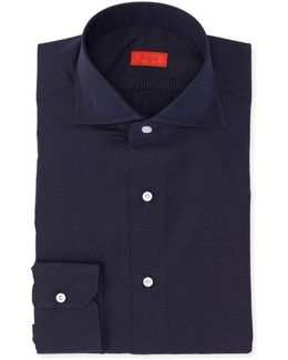 Micro-effect Cotton Solid-color Dress Shirt