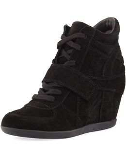 Bowie Lace-up Suede Sneaker Bootie