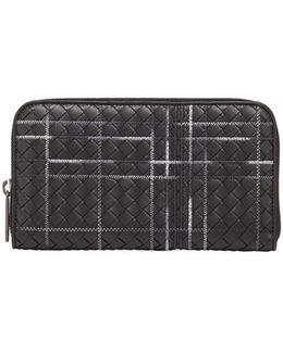 Metropolis Intrecciato Leather Continental Zip Wallet