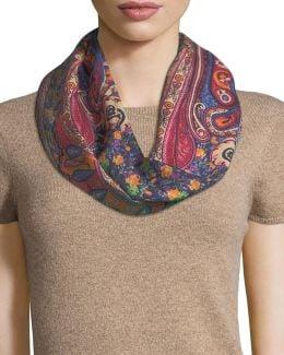 Calcutta Printed Wool/silk Scarf