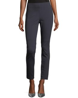 Oleander Straight-leg Stretch-knit Ankle Pants
