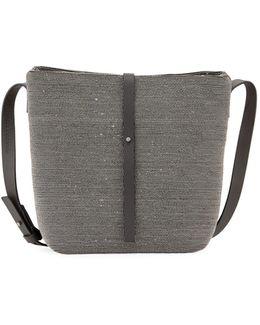 Monili Mini Leather Bucket Bag