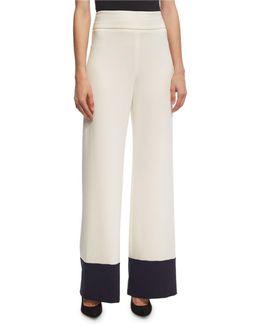Wide-leg Colorblock Pants