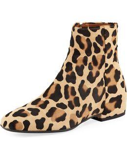 Ulyssaa Leopard-print Calf Hair Bootie