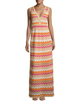 Ombre Zigzag Gown