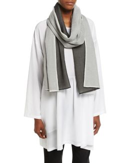 Two-tone Voile Scarf