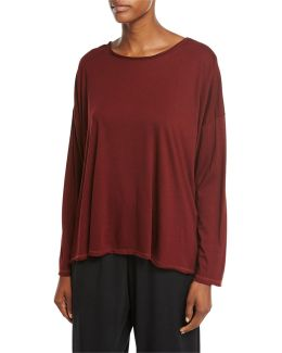 Long-sleeve Pima Cotton Top