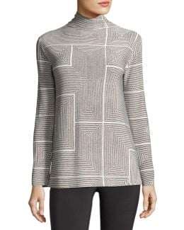 Long-sleeve Turtleneck Top