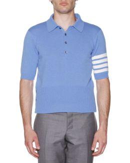 Stripe-sleeve Cashmere Polo