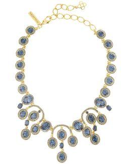 Pavé Oval Crystal Necklace