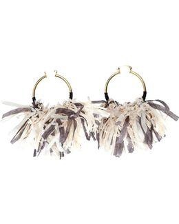 Mary Fringed Hoop Earrings