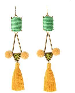 Mason Tassel Drop Earrings