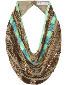 Kinsey Beaded Scarf Necklace