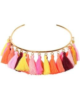 Lily Tassel Collar Necklace