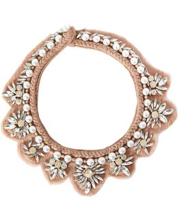 Katarina Beaded Chiffon Statement Necklace