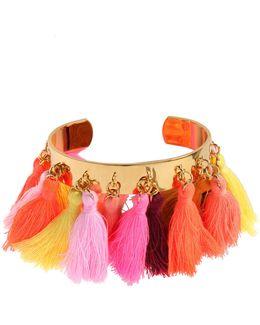 Lily Tassel-trim Cuff Bracelet