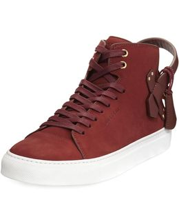 100mm Clean Nubuck Mid-top Sneaker