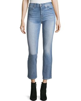Edie High-rise Ankle Straight-leg Jeans