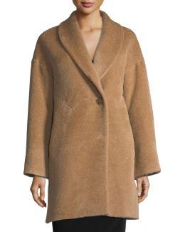 Shawl-collar One-button Coat