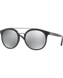 Top Bar Polarized Round Frame Sunglasses