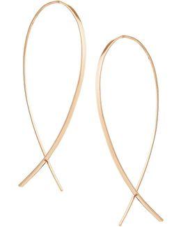 Small Upside Down Hoop Earrings