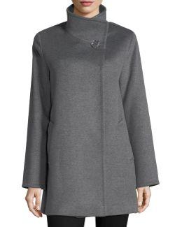 Wool Stand-collar Coat