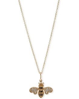 Anniversary Bee Pendant Necklace With Diamonds